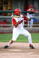 July 10th 2008: Dwayne Bailey of the Orem Owlz, Rookie Class-A affiliate of the Los Angeles Angels of Anaheim,  during a game at Home of the Owlz Stadium in Orem, UT.  Photo by:  Matthew Sauk/Four Seam Images
