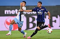 24th June 2020, Bergamo, Italy; Seria A football league, Atalanta versus Lazio;  Joaquin Correa and Jose Luis Palomino chase the loose ball