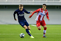 6th November 2019; Vozdovac Stadium, Belgrade, Serbia; UEFA Under 19 UEFA Youth league football, FK Crvena Zvezda under 19s versus Tottenham Hotspur under 19s; Harvey White of Tottenham Hotspurs FC breaks with the ball