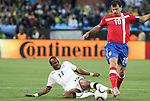 13 JUN 2010:  Andre Ayew (GHA)(13) attempts a slide tackle on Dejan Stankovic (SRB)(10).  The Serbia National Team played the Ghana National Team at Loftus Versfeld Stadium in Tshwane/Pretoria, South Africa in a 2010 FIFA World Cup Group D match.