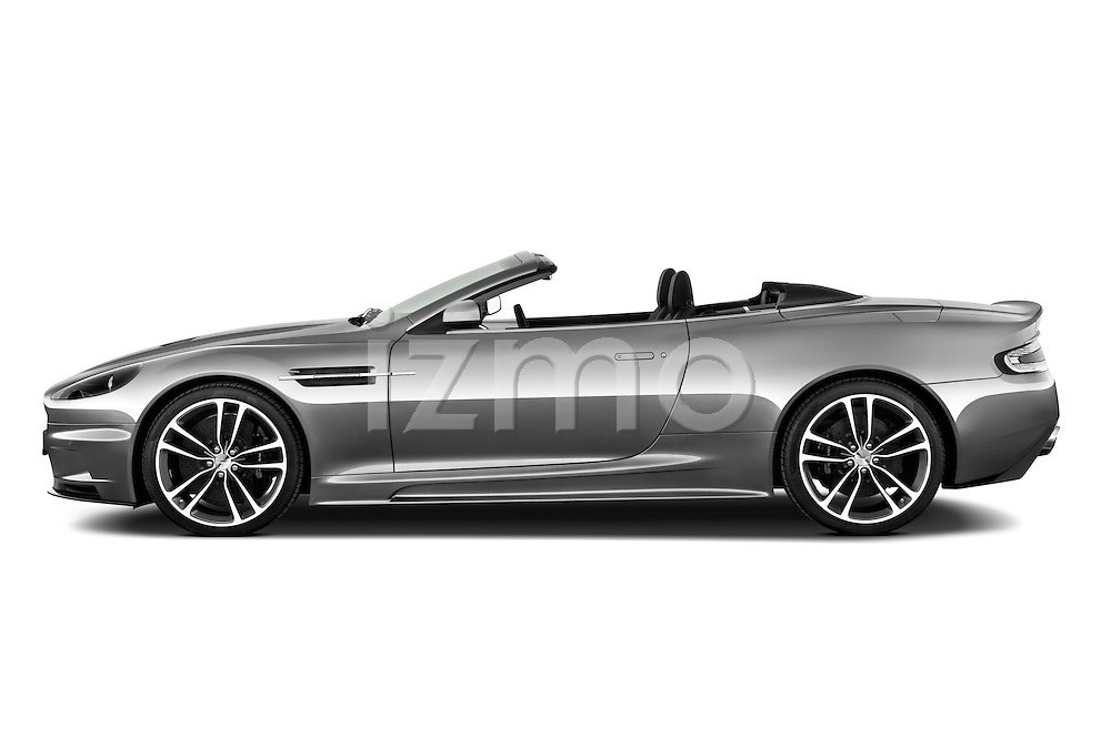 Driver side profile view of a 2007 - 2012 Aston Martin DBS Volante Convertible.