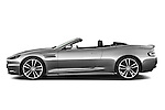 Driver side profile view of a 2007 - 2012 Aston Martin DBS Volante Convertible.