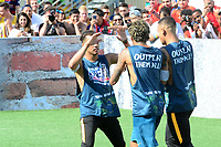 PRAIA GRANDE, SP, 08.07.2017 - NEYMAR-JR - Gabriel Jesus jogador brasileiro do Manchester City È visto durante evento Jr's Five no Instituto Neymar Jr. na Praia Grande litoral paulista neste s·bado, 08. (Foto: Eduardo Martins/Brazil Photo Press)