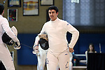 11 February 2017: Duke's Dakota Nollner prepares to compete in the Epee event. The Duke University Blue Devils hosted the Massachusetts Institute of Technology Engineers at Card Gym in Durham, North Carolina in a 2017 College Men's Fencing match. Duke won the dual match 19-8 overall, 7-2 Foil, 6-3 Epee, and 6-3 Saber.