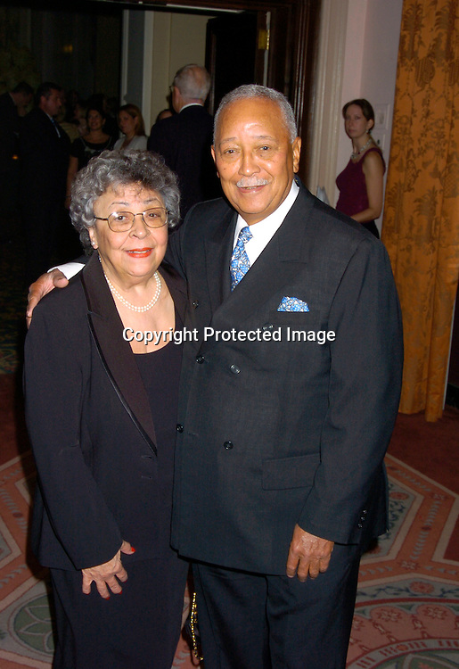 Joyce and David Dinkins..at the United Nations Association of the USA Global Leadership Awards Dinner on September 30, 2004 at the ..Waldorf Astoria. Oprah Winfrey was honored with the ..International Philanthropist, Global Media Leader. ..Photo by Robin Platzer, Twin Images