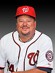 25 February 2011: Mark Grater, Spring Training Instructor for the Washington Nationals, poses for his portrait on Photo Day at Space Coast Stadium in Viera, Florida. Mandatory Credit: Ed Wolfstein Photo