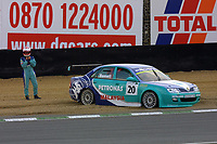 Round 9 of the 2002 British Touring Car Championship. #20 Phil Bennett (GBR). Petronas Syntium Proton. Proton Impian.