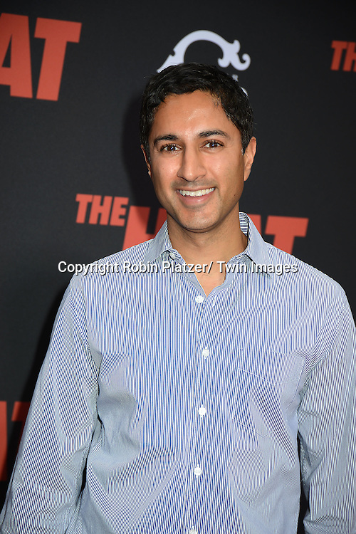 "Maulik Pancholy attends the New York Premiere of ""The Heat"" on June 23,2013 at the Ziegfeld Theatre in New York City. The movie stars Sandra Bullock, Melissa McCarthy, Demian Bichir, Marlon Wayans, Joey McIntyre, Jessica Chaffin, Jamie Denbo, Nate Corddry, Steve Bannos, Spoken Reasons and Adam Ray."