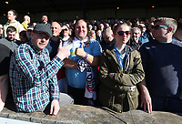Bolton Wanderers fans celebrate their sides 2-0 victory<br /> <br /> Photographer Stephen White/CameraSport<br /> <br /> The EFL Sky Bet League One - Port Vale v Bolton Wanderers  - Saturday 22nd April 2017 - Vale Park - Burslem<br /> <br /> World Copyright &copy; 2017 CameraSport. All rights reserved. 43 Linden Ave. Countesthorpe. Leicester. England. LE8 5PG - Tel: +44 (0) 116 277 4147 - admin@camerasport.com - www.camerasport.com