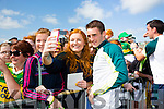 L-r Ciara Keane, Chloe Leen at Kerry GAA family day at Fitzgerald Stadium  on Sunday