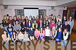 MEDALS: The Killard Comogie girls who were presented with their medals from Brígge Corkery (Cork Camogie) on Saturday in Ballyroe Heights Hotel, Tralee (Bríge seated centre).