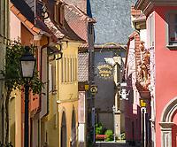 Germany; Bavaria; Lower Franconia; Ochsenfurt: old town lane 'Badgasse' | Deutschland, Bayern, Unterfranken, Ochsenfurt: die Badgasse