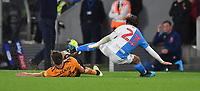 Blackburn Rovers' Bradley Dack receives a hard tackle <br /> <br /> Photographer Dave Howarth/CameraSport<br /> <br /> The Premier League - Hull City v Blackburn Rovers - Tuesday August 20th 2019  - KCOM Stadium - Hull<br /> <br /> World Copyright © 2019 CameraSport. All rights reserved. 43 Linden Ave. Countesthorpe. Leicester. England. LE8 5PG - Tel: +44 (0) 116 277 4147 - admin@camerasport.com - www.camerasport.com