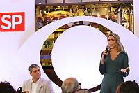 """São Paulo (SP), 31/07/2019 - Coletiva / Televisão / Bora SP - Os apresentadores Joel Datena e Laura Ferreira, durante coletiva de imprensa de apresentação do telejornal """"Bora SP"""", nesta quarta-feira, 31. (Foto: Charles Sholl/Brazil Photo Press/Agencia O Globo) São Paulo"""