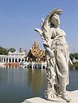Statue at Bang Pa-In Palace near Bangkok, Thailand (Summer Palace of the Thai king).