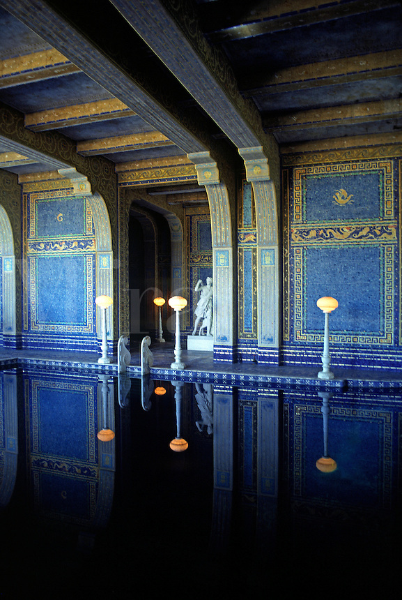 The beautifully tiled indoor pool at HEARST CASTLE, which was built by WILLIAM RANDOLPH HEARST & is open to the public.