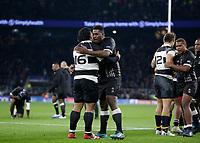 16th November 2019; Twickenham, London, England; International Rugby, Barbarians versus Fiji;  Andrew Makalio of Barbarians congratulates Temo Mayanavanua of Fiji after the game - Editorial Use