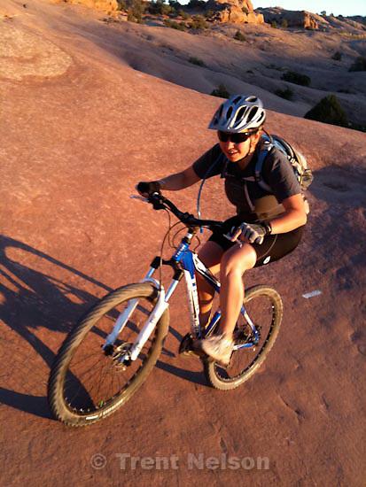 . Saturday, October 17 2009.djamila grossman, slickrock bike trail.
