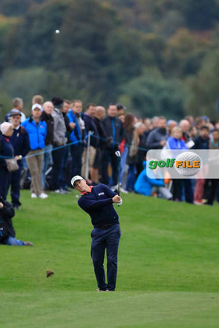 Alex Noren (SWE) in action during round 3 of the British Masters played at The Grove, Chandler's Cross, Hertfordshire, England.  15/10/2016<br /> Picture: Golffile | Phil Inglis<br /> <br /> <br /> All photo usage must carry mandatory copyright credit (&copy; Golffile | Phil Inglis)