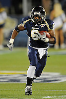 6 November 2010:  FIU running back Jeremiah Harden (6) carries the ball in the first half as the FIU Golden Panthers defeated the University of Louisiana-Monroe Warhawks, 42-35 in double overtime, at FIU Stadium in Miami, Florida.