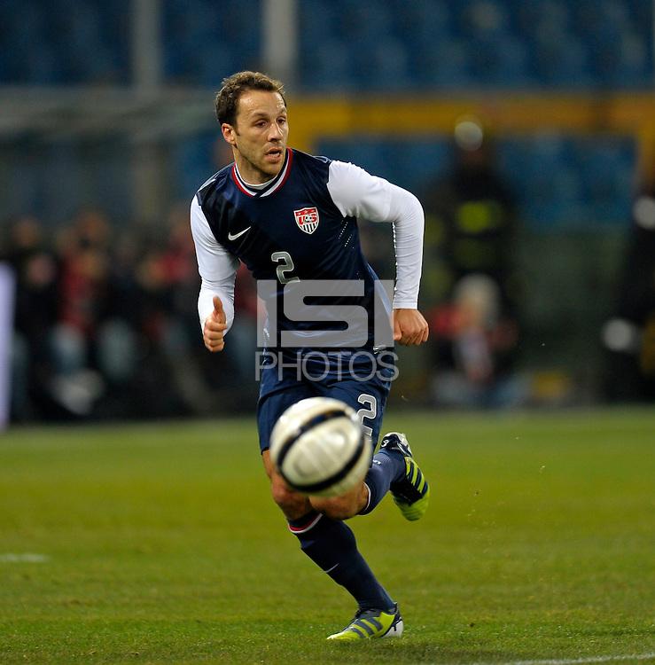 Steve Cherundolo  (USA), during the friendly match Italy against USA at the Stadium Luigi Ferraris at Genoa Italy on february the 29th, 2012.