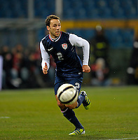 Steve Cherundolo  (USA), during the friendly match Italy against USA at the Stadium Luigi Ferraris at Genoa Italy on february the 29th, 2012.