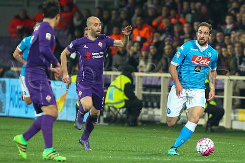 29.02.2016. Stadium Artemio Franchi, Florence, Italy.  Serie A football league. Fiorentina versus Napoli. Higuain Gonzalo in action