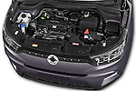 Car Stock 2015 Ssangyong Tivoli Quartz 5 Door Suv Engine high angle detail view