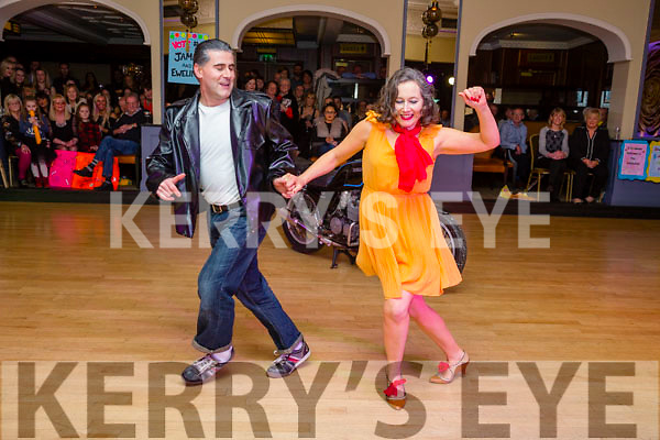First up at the  Ballymac Strictly Love Dancing fundraiser at Ballygarry House hotel on Saturday were Donal Racily and Amanda Mannix