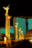 Casinos and Neonlights in Las Vegas gambling city in Nevada, USA