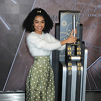 Yara Shahidi for Mattel lights the Empire State Building pink for Barbie's 60th Anniversary