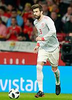 Spain's Gerard Pique during international friendly match. March 27,2018. *** Local Caption *** © pixathlon<br /> Contact: +49-40-22 63 02 60 , info@pixathlon.de