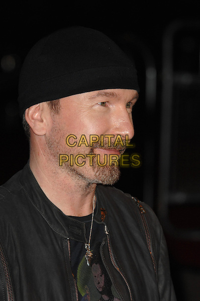 LONDON - FEBRUARY 18: The Edge (Dave Evans) of U2  arrives for the 2009 Brit Awards at Earls Court on February 18, 2009 in London, England. <br /> CAP/CK<br /> &copy;CK/Capital Pictures