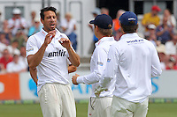 Saj Mahmood of Essex claims the wicket of Joe Root - Essex CCC vs England - LV Challenge Match at the Essex County Ground, Chelmsford - 30/06/13 - MANDATORY CREDIT: Gavin Ellis/TGSPHOTO - Self billing applies where appropriate - 0845 094 6026 - contact@tgsphoto.co.uk - NO UNPAID USE