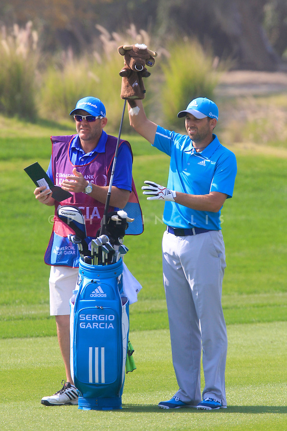 Sergio Garcia (ESP) in action during the final round of the Commercial Bank Qatar Masters played at Doha Golf Club, Doha, Qatar. 22 - 25th January 2014 (Picture Credit / Phil Inglis)