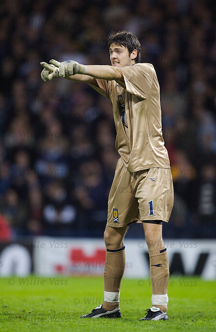 Craig Gordon, Scotland.stock season 2006-2007.pic willie vass