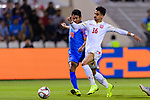 Sayed Redha Isa of Bahrain (R) fights for the ball with Balwant Singh of India (L) during the AFC Asian Cup UAE 2019 Group A match between India (IND) and Bahrain (BHR) at Sharjah Stadium on 14 January 2019 in Sharjah, United Arab Emirates. Photo by Marcio Rodrigo Machado / Power Sport Images