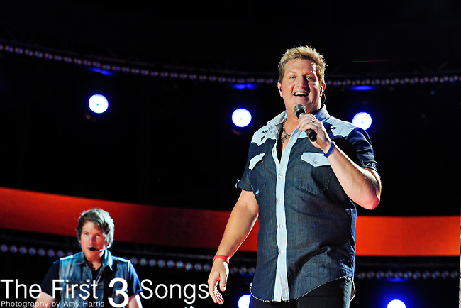Gary LeVox of Racal Flatts performs at LP Field during the 2012 CMA Music Festival on June 10, 2011 in Nashville, Tennessee.