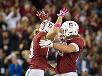 Stanford, CA - October 5, 2019: Simi Fehoko, Tucker Fisk at Stanford Stadium. The Stanford Cardinal beat the University of Washington Huskies 23-13.