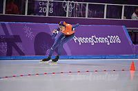 OLYMPIC GAMES: PYEONGCHANG: 15-02-2018, Gangneung Oval, Long Track, 10.000m Men, Jorrit Bergsma (NED), ©photo Martin de Jong