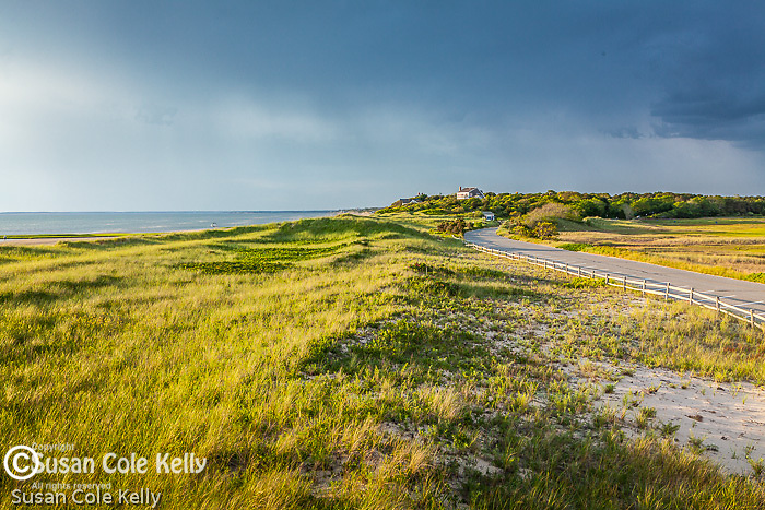 Evening light over First Encounter Beach in Eastham, Cape Cod, Massachusetts, USA