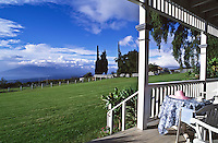 Silver Cloud Ranch before it was purchased by Oprah Winfrey. The view looks out over the south shore, Central Valley, Ma'alaea Harbor and the West Maui Mountains in Maui.