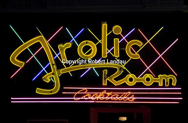 Frolic Room  neon sign, Hollywood Blvd., 2006