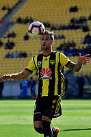 Wellington Phoenix' Thomas Doyle in action during the A League - Wellington Phoenix v Newcastle Jets at Westpac Stadium, Wellington, New Zealand on Sunday 21 October  2018. <br /> Photo by Masanori Udagawa. <br /> www.photowellington.photoshelter.com