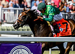 August 10, 2019 : Sustercharlie #7, ridden by John Velazquez, wins the Beverly D. Stakes during Arlington Million Day at Arlington International Racecourse in Arlington Heights, Illinois. Scott Serio/Eclipse Sportswire/CSM