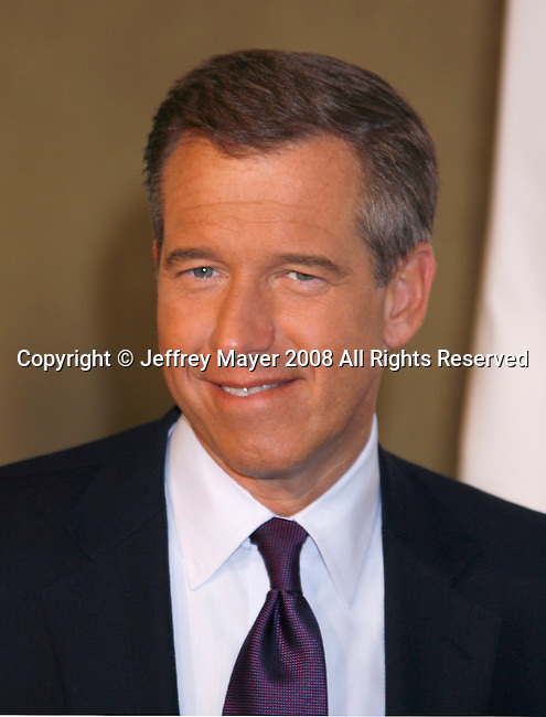 HOLLYWOOD, CA. - September 05: NBC Nightly News anchor Brian Williams arrives at Stand Up For Cancer at The Kodak Theatre on September 5, 2008 in Hollywood, California.