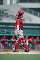 Boston Red Sox catcher Elih Marrero during a Florida Instructional League game against the Baltimore Orioles on September 21, 2018 at JetBlue Park in Fort Myers, Florida.  (Mike Janes/Four Seam Images)