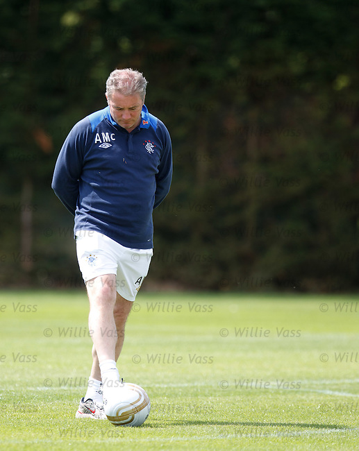 Manager Ally McCoist deep in thought