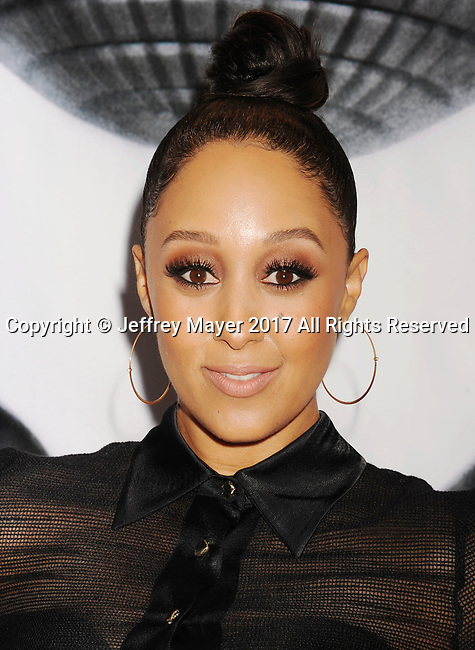 PASADENA, CA - FEBRUARY 11: Actress Tamera Mowry-Housely arrives at the 48th NAACP Image Awards at Pasadena Civic Auditorium on February 11, 2017 in Pasadena, California.