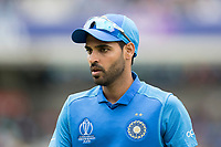Bhuvneshwar Kumar (India) during India vs Australia, ICC World Cup Cricket at The Oval on 9th June 2019